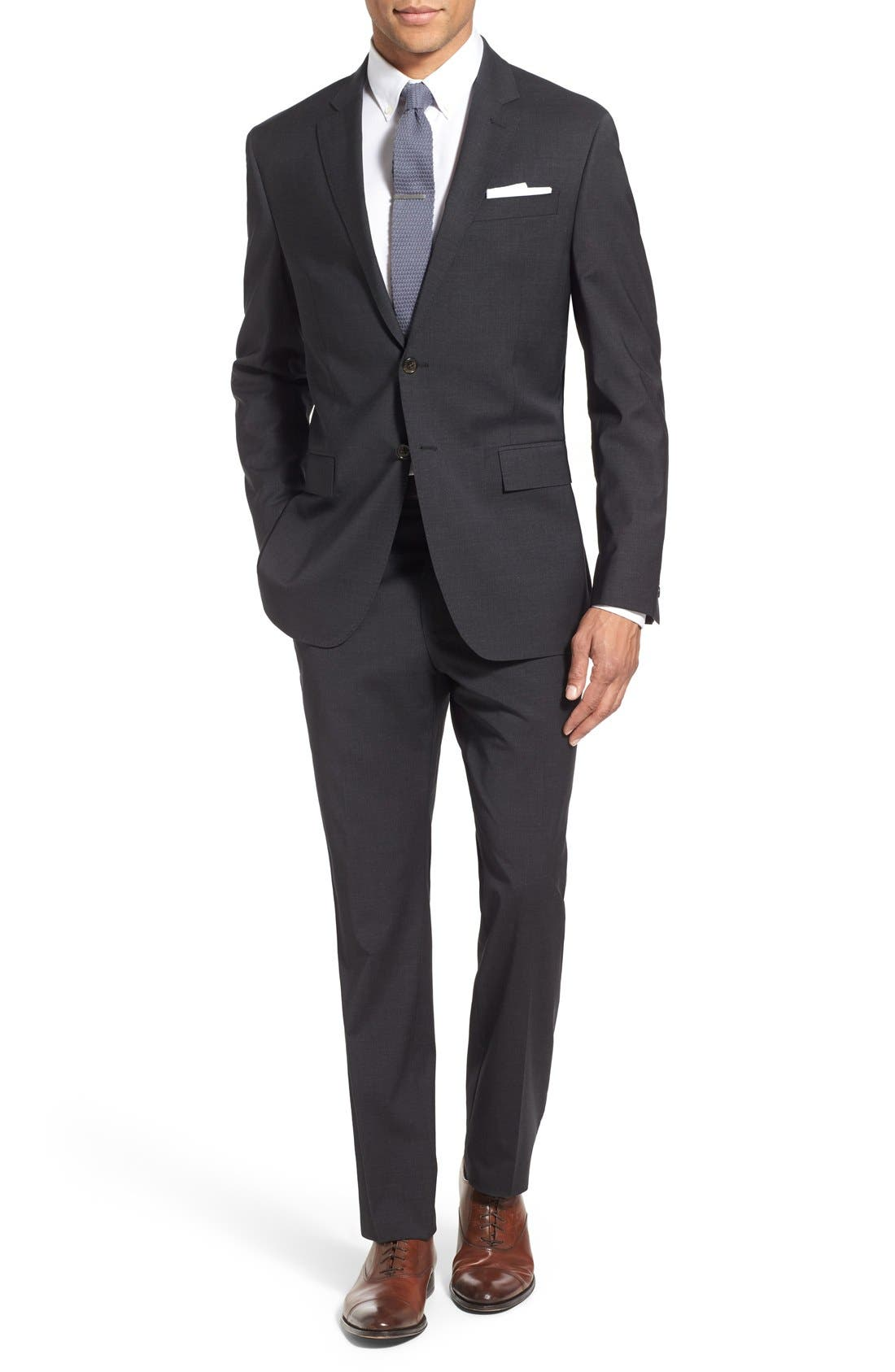 Alternate Image 1 Selected - Todd Snyder White Label 'May Fair' Trim Fit Solid Stretch Wool Suit