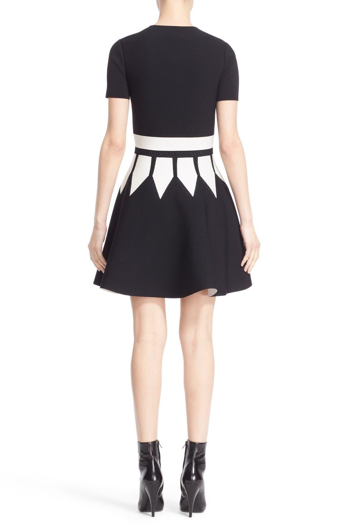 Alternate Image 2  - Alexander McQueen Intarsia Knit Fit & Flare Dress