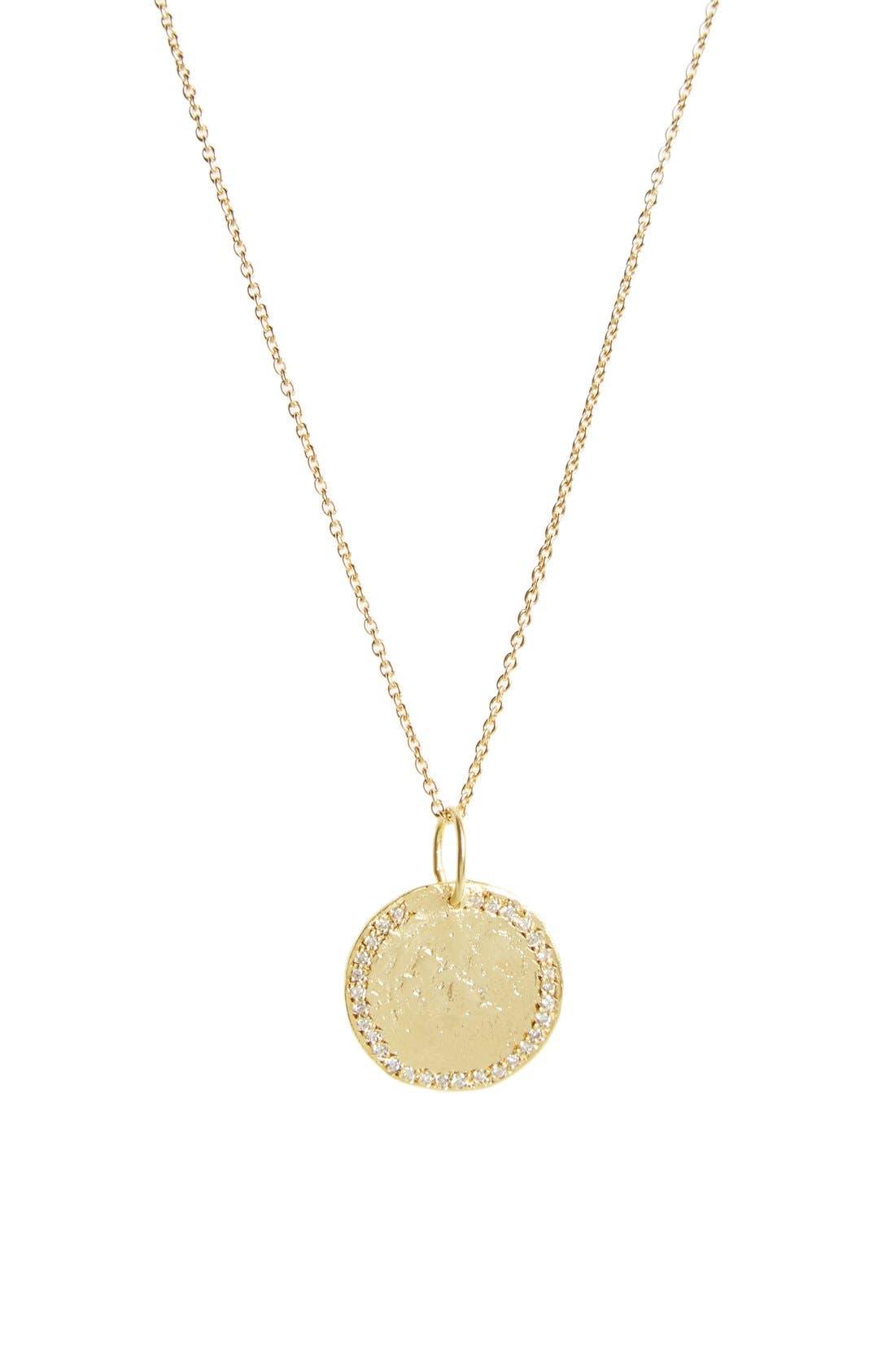 LARA MELCHIOR 'Sautoir III' Diamond & Vermeil Pendant