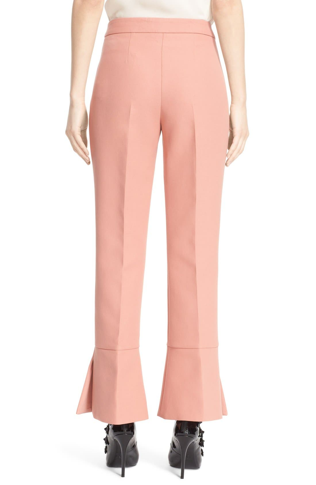 Alternate Image 2  - Fendi Trumpet Hem Crop Cotton Pants