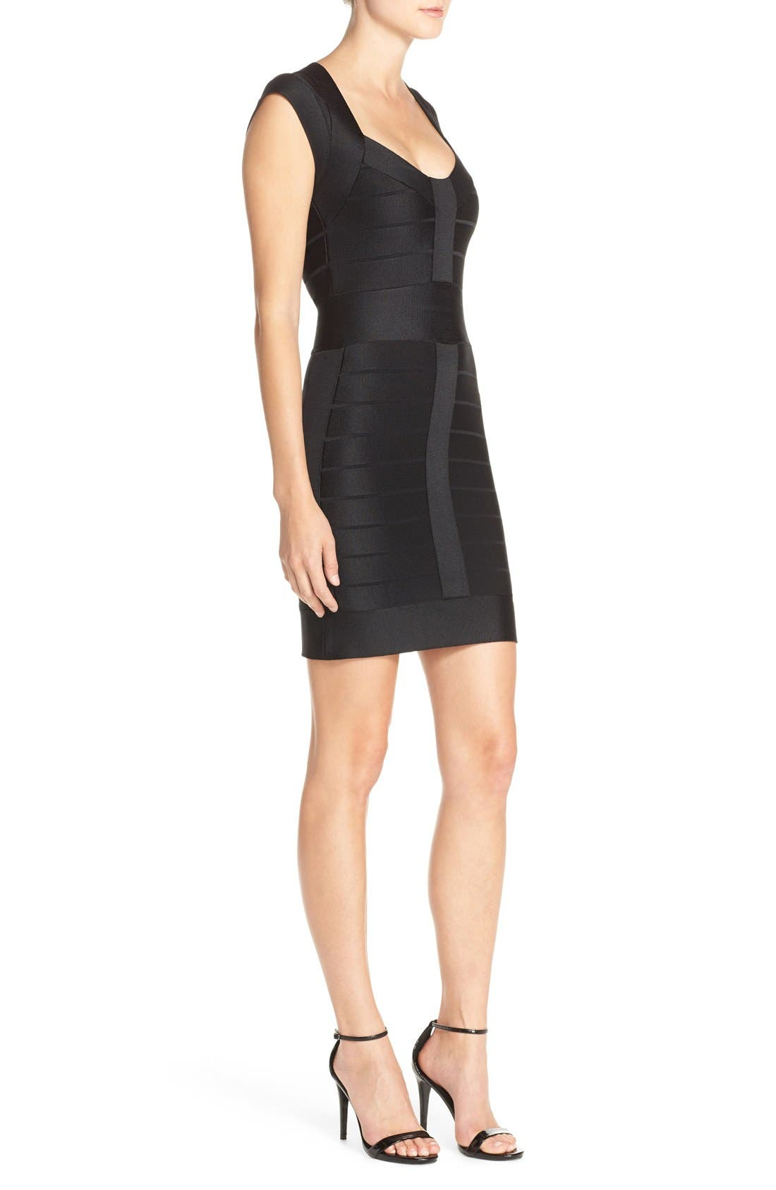 Alternate Image 3  - French Connection 'Miami Spotlight' Cap Sleeve Bandage Dress