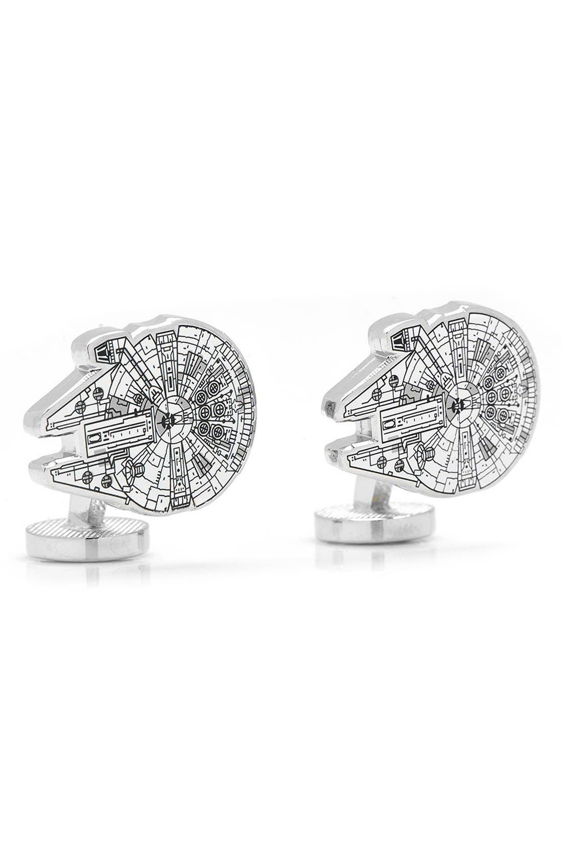Alternate Image 3  - Cufflinks, Inc. 'Star Wars™ - Millennium Falcon Blueprint' Cuff Links