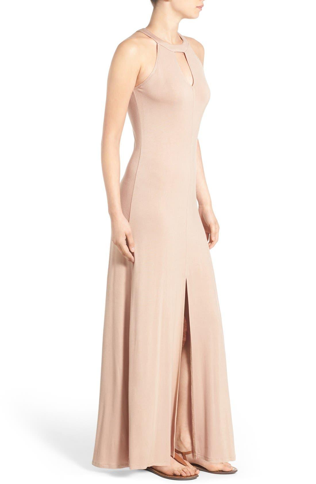 Alternate Image 3  - Mimi Chica High Neck Maxi Dress