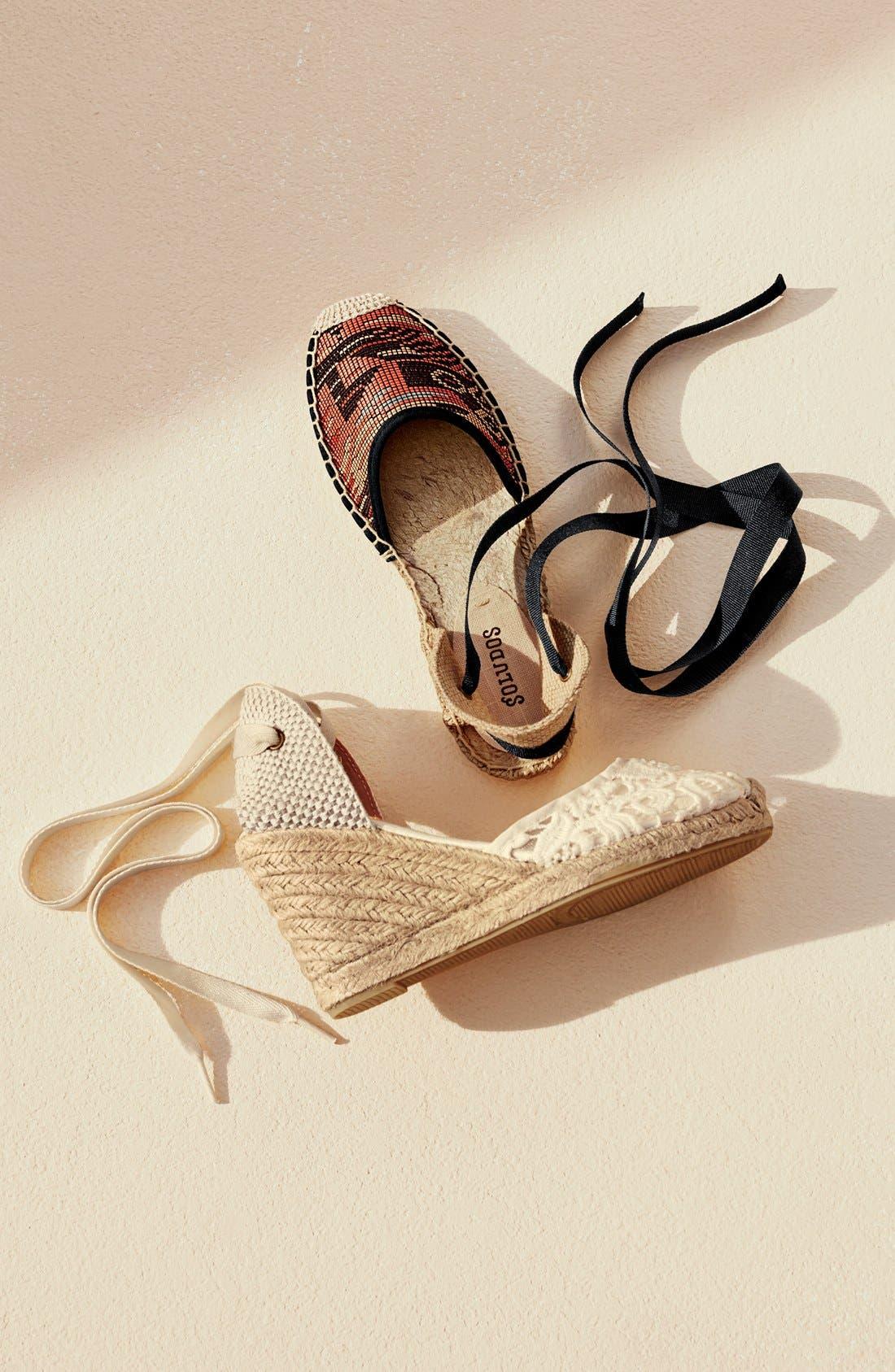 Alternate Image 5  - Soludos Lace Wedge Espadrille Sandal (Women)