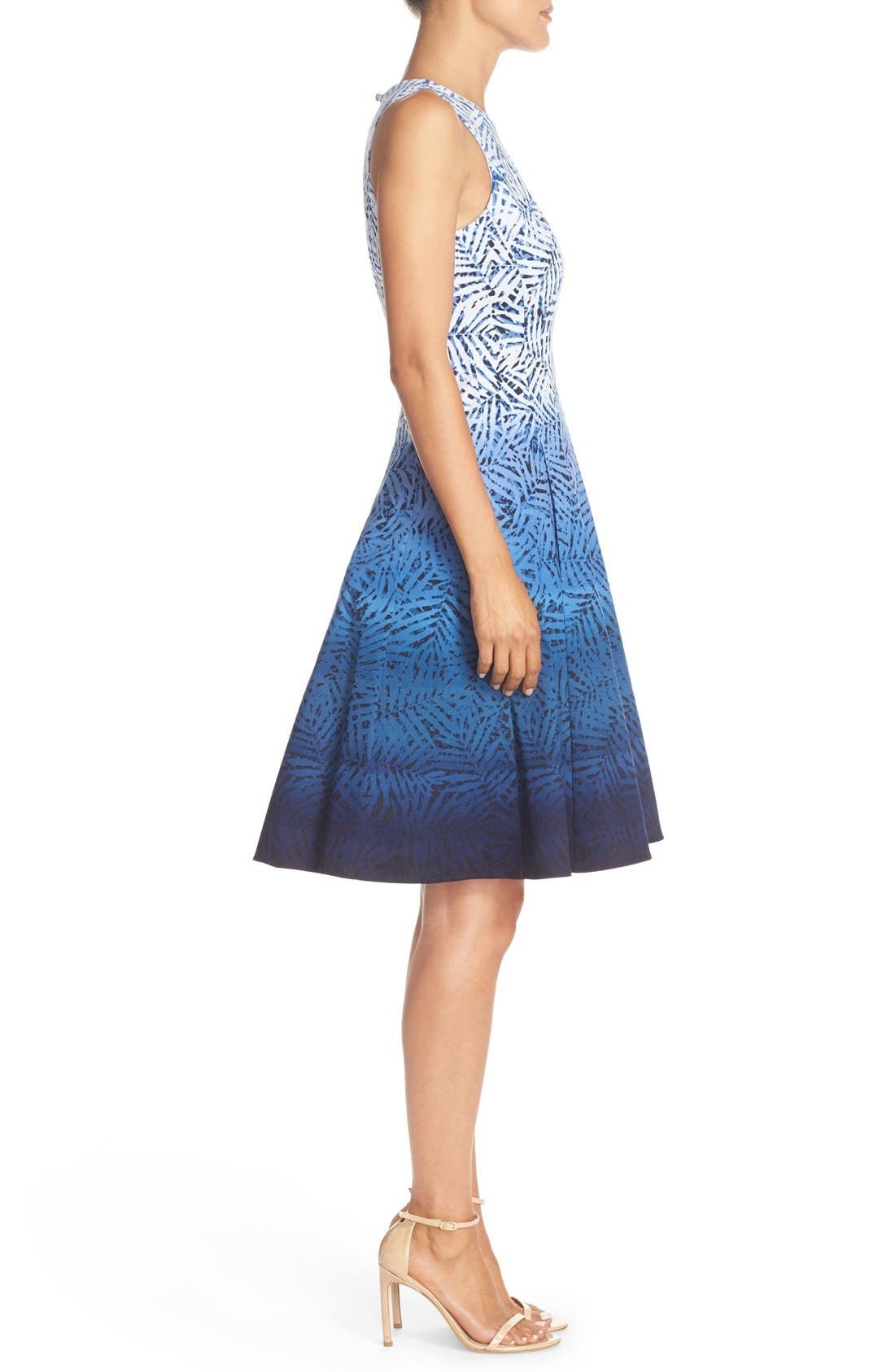 Alternate Image 3  - Maggy London Ombré Print Fit & Flare Dress