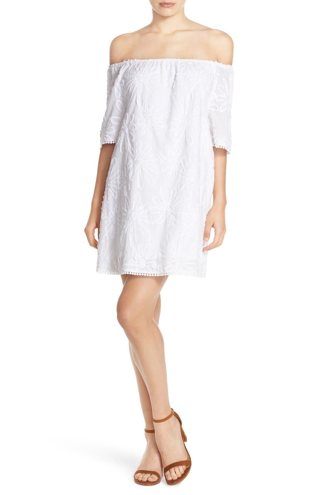 Main Image - BB Dakota 'Marnie' Off the Shoulder Gauze Shift Dress