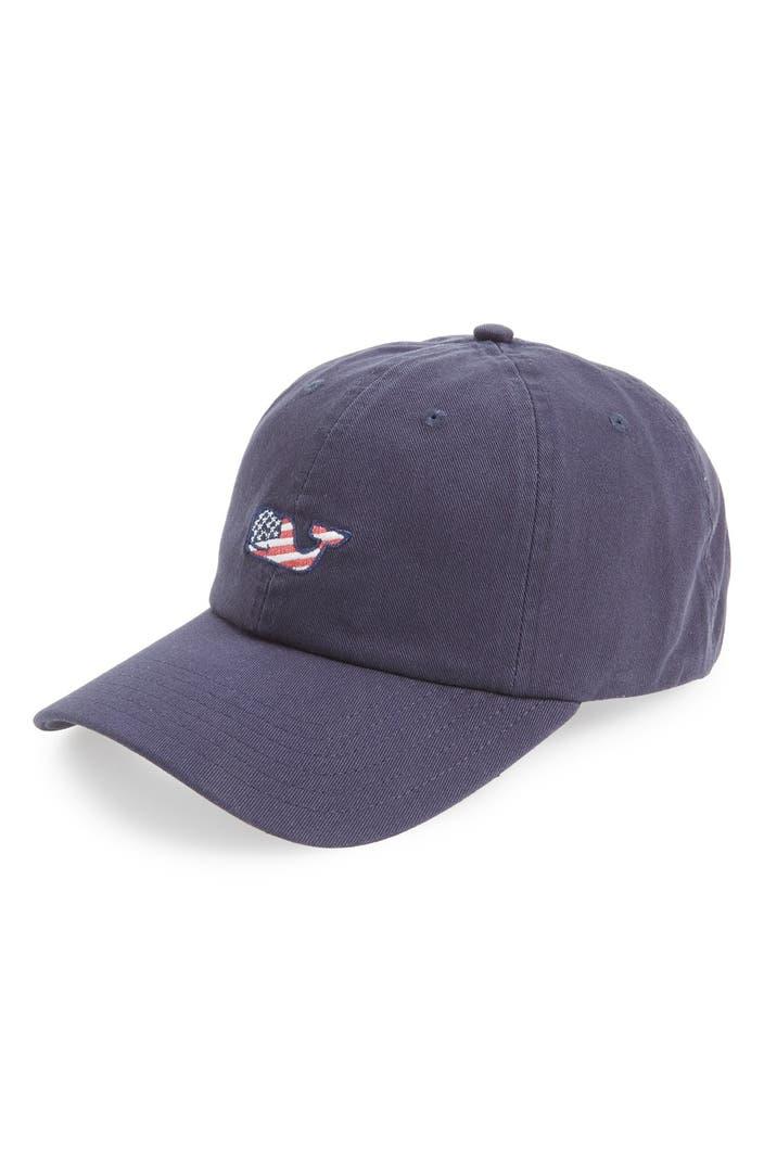 Vineyard Vines Whale Flag Baseball Cap Nordstrom