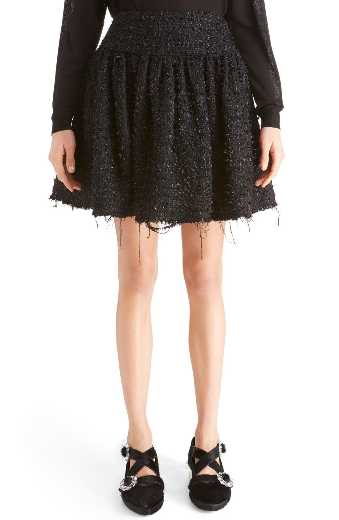 Alternate Image 1 Selected - Simone Rocha Gathered Tweed Miniskirt