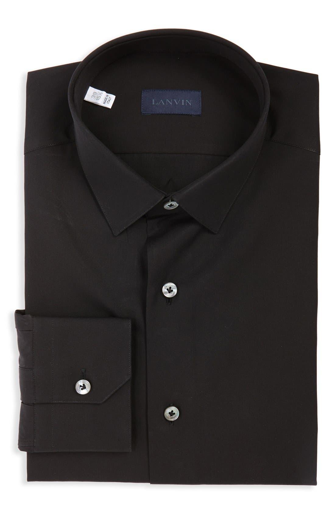 LANVIN Extra Trim Cotton Poplin Sport Shirt