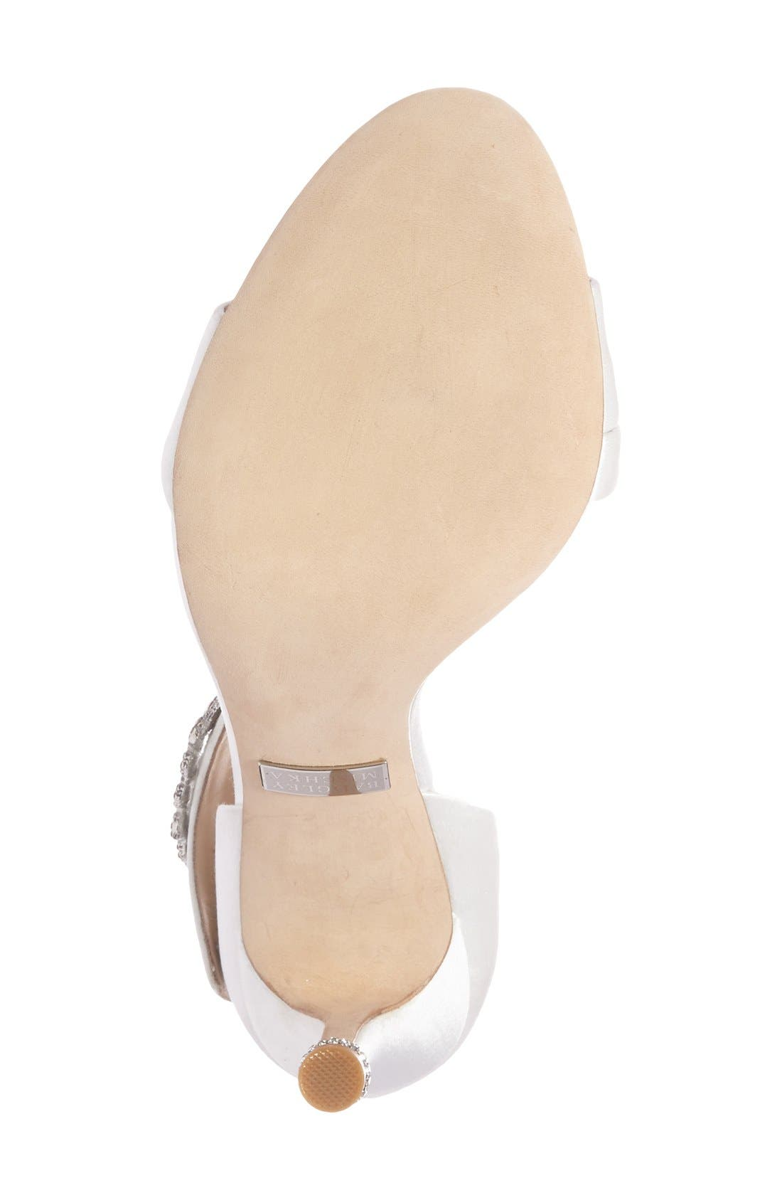 Alternate Image 4  - Badgley Mischka 'Night' Crystal Embellished Evening Sandal (Women)