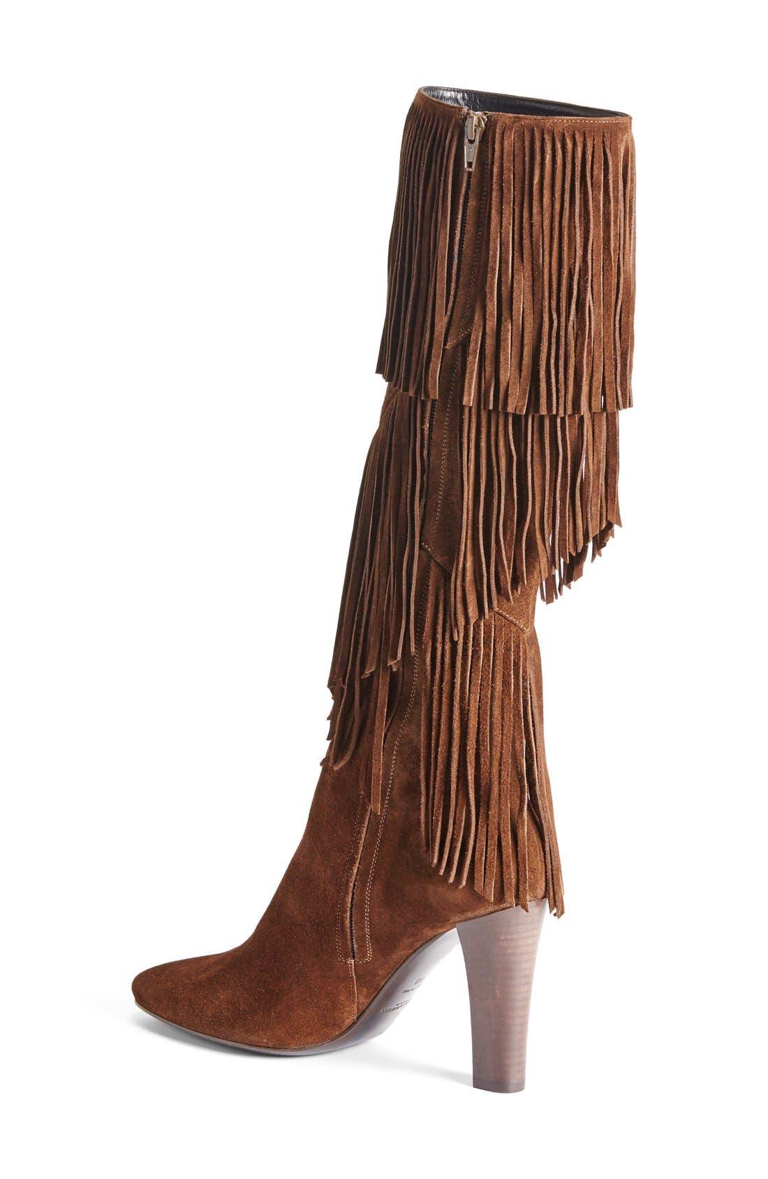 Alternate Image 2  - Saint Laurent 'Lily' Fringe Tall Boot (Women)