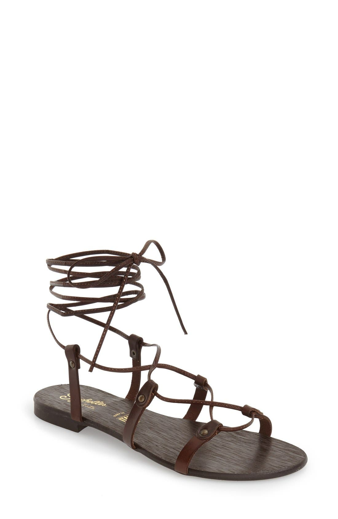 Alternate Image 1 Selected - Seychelles 'Gawk' Lace-Up Sandal (Women)