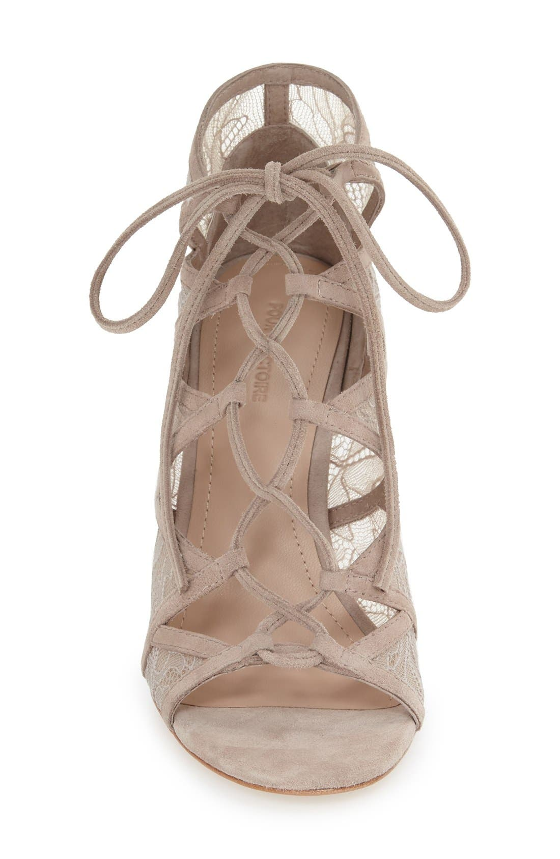 Alternate Image 3  - Pour la Victoire 'Ellery' Lace-Up Sandal (Women)