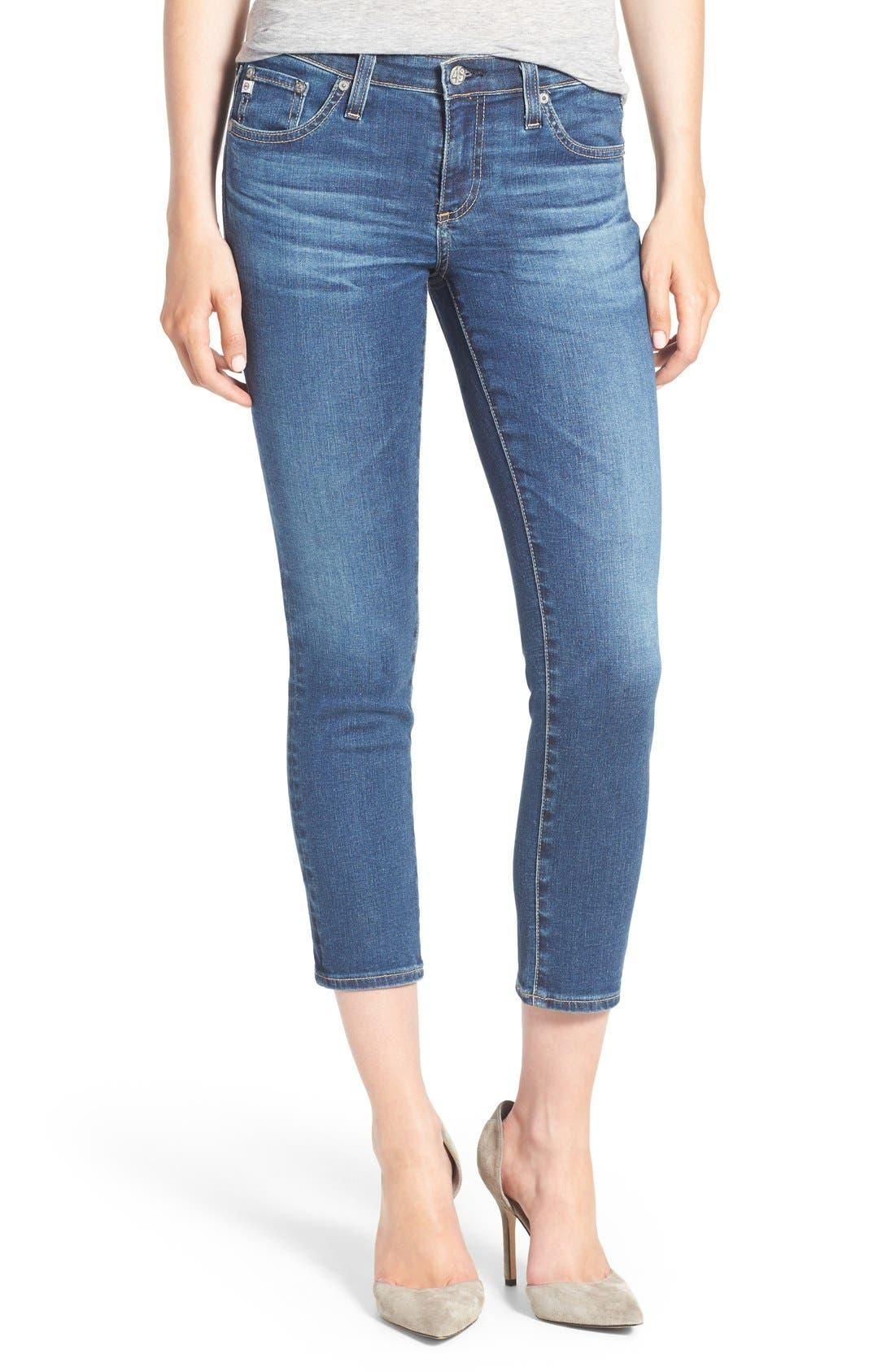 Alternate Image 1 Selected - AG Jeans 'The Stilt' Crop Skinny Stretch Jeans