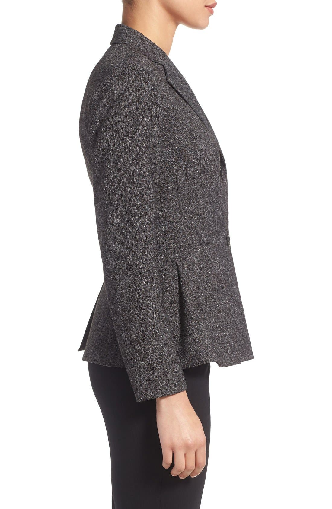 Alternate Image 4  - Vince Camuto Tweed Peplum Blazer (Regular & Petite)