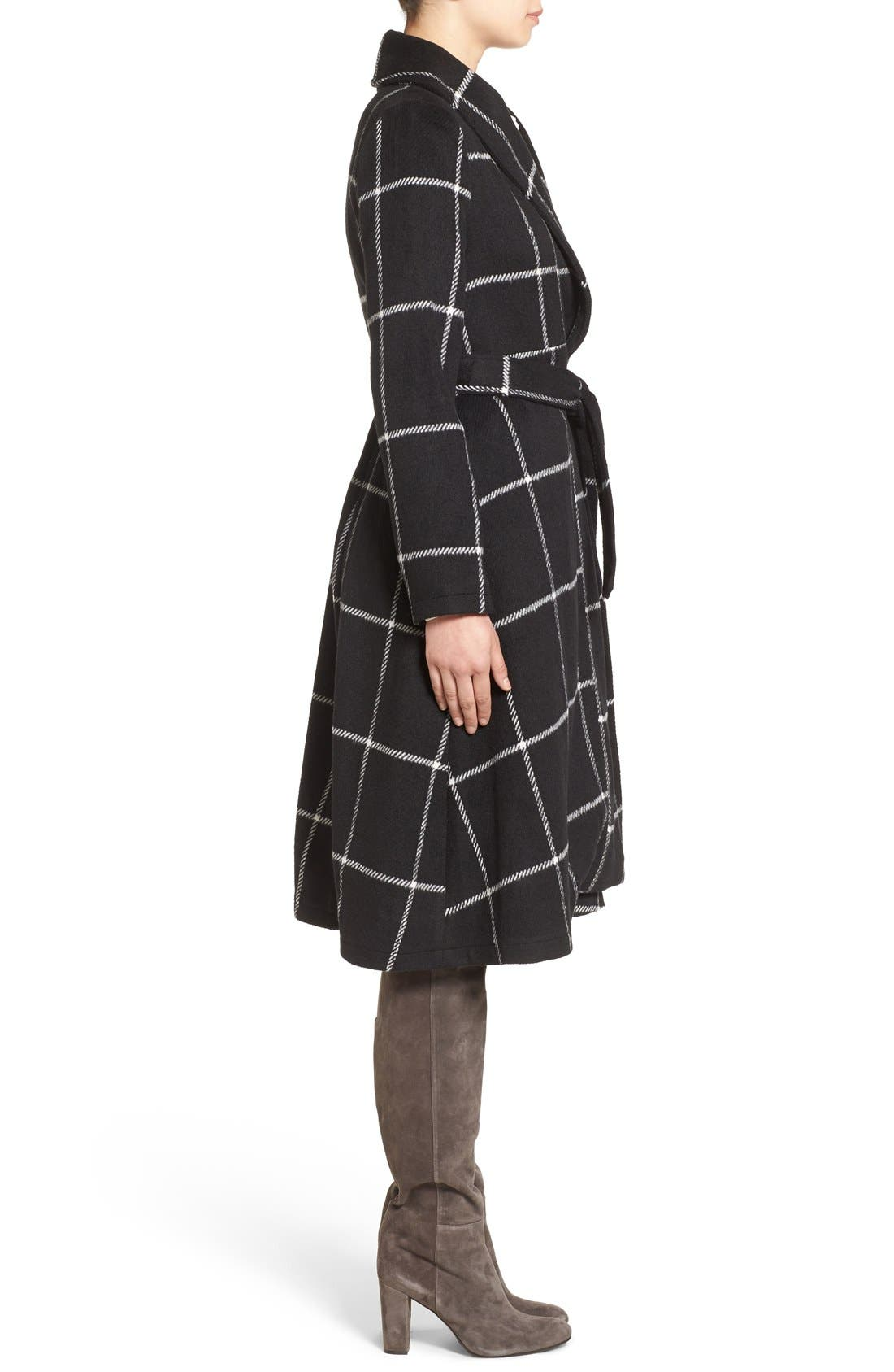 Alternate Image 3  - BB Dakota 'Braylee' Windowpane Plaid Midi Coat