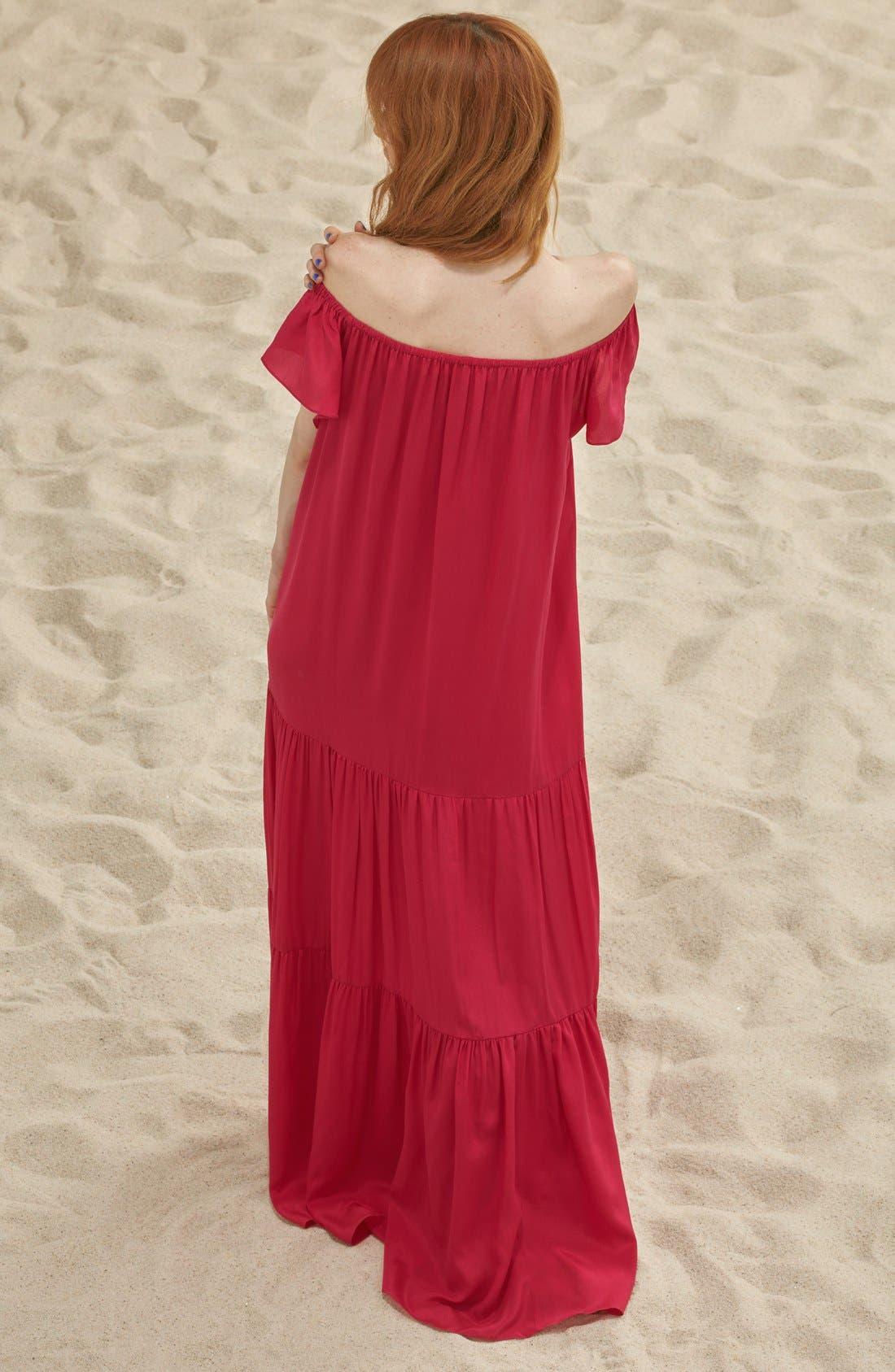 Alternate Image 2  - Soler 'Thalia' Off the Shoulder Silk Maxi Dress