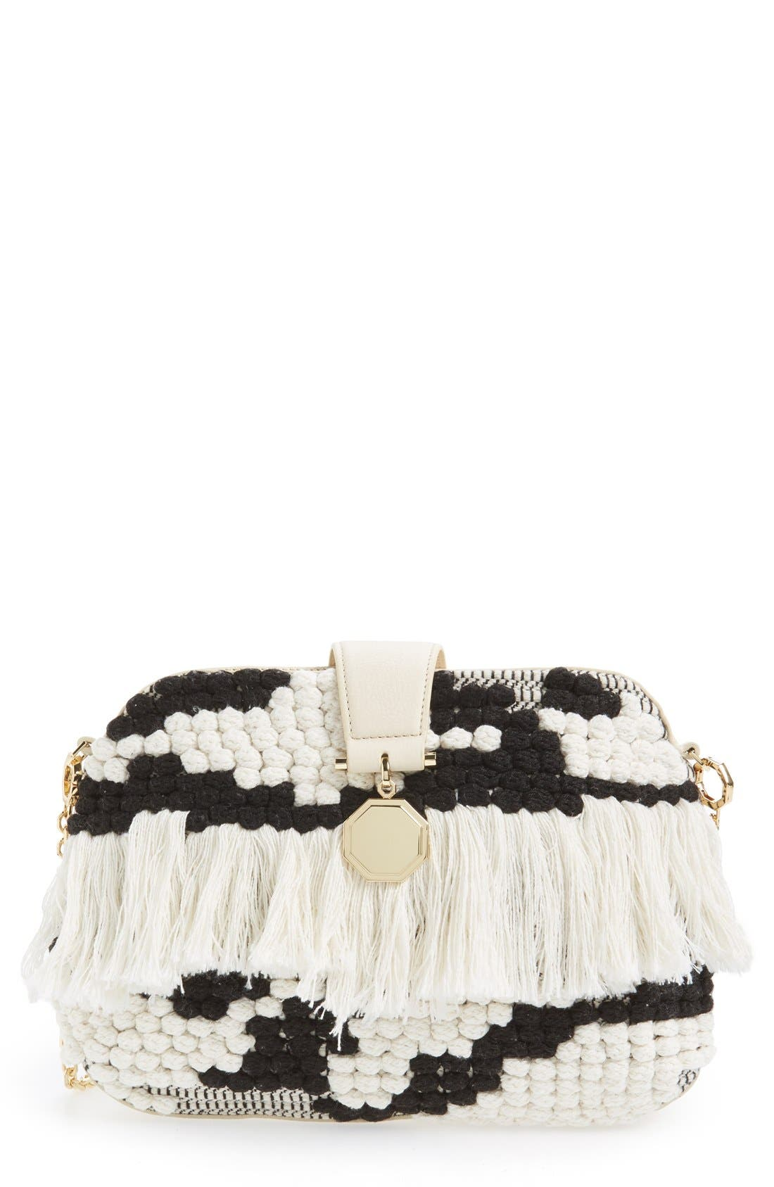 Alternate Image 1 Selected - Louise et Cie 'Fae' Woven Clutch