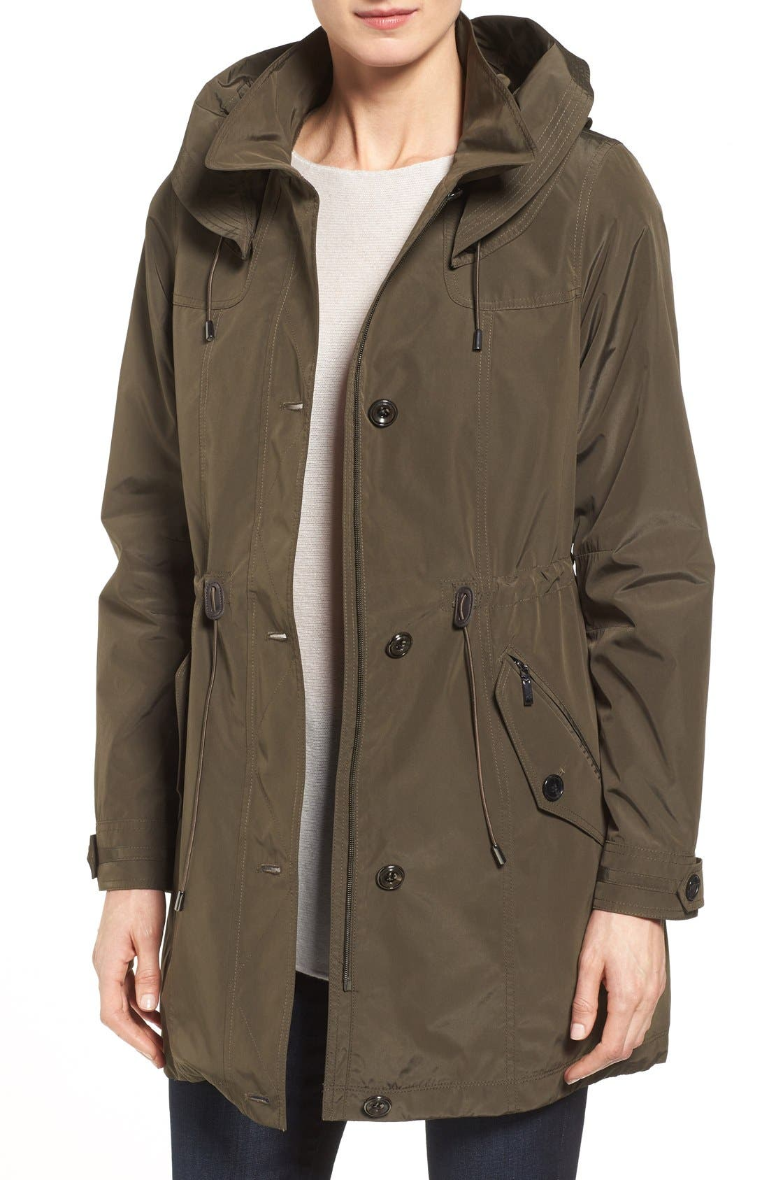 Gallery Water Repellent Hooded Anorak (Regular & Petite)