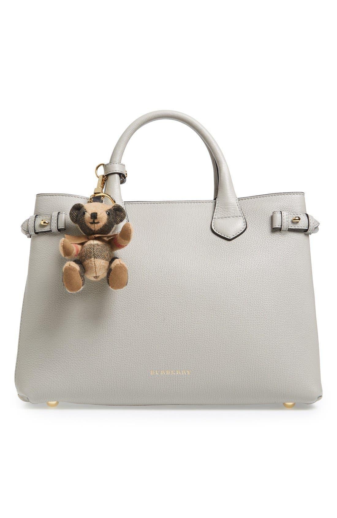 Alternate Image 2  - Burberry 'Thomas Bear' Check Cashmere Bag Charm