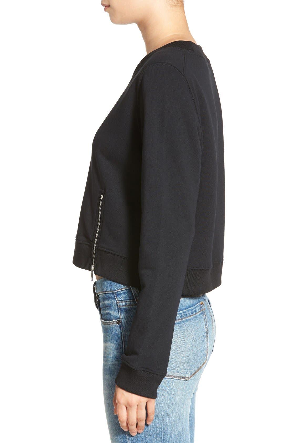Alternate Image 3  - Cheap Monday 'Exact' Zip Hem Sweatshirt