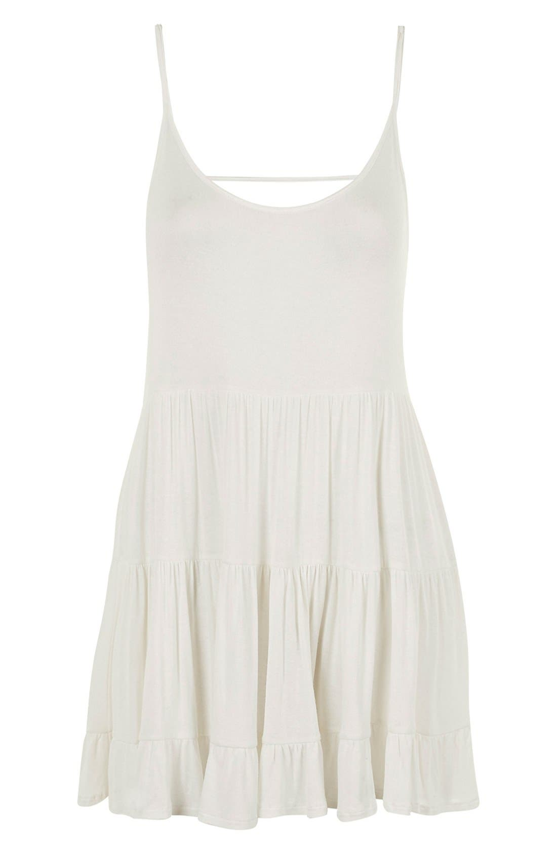Alternate Image 4  - Topshop Tiered Open Back Sundress