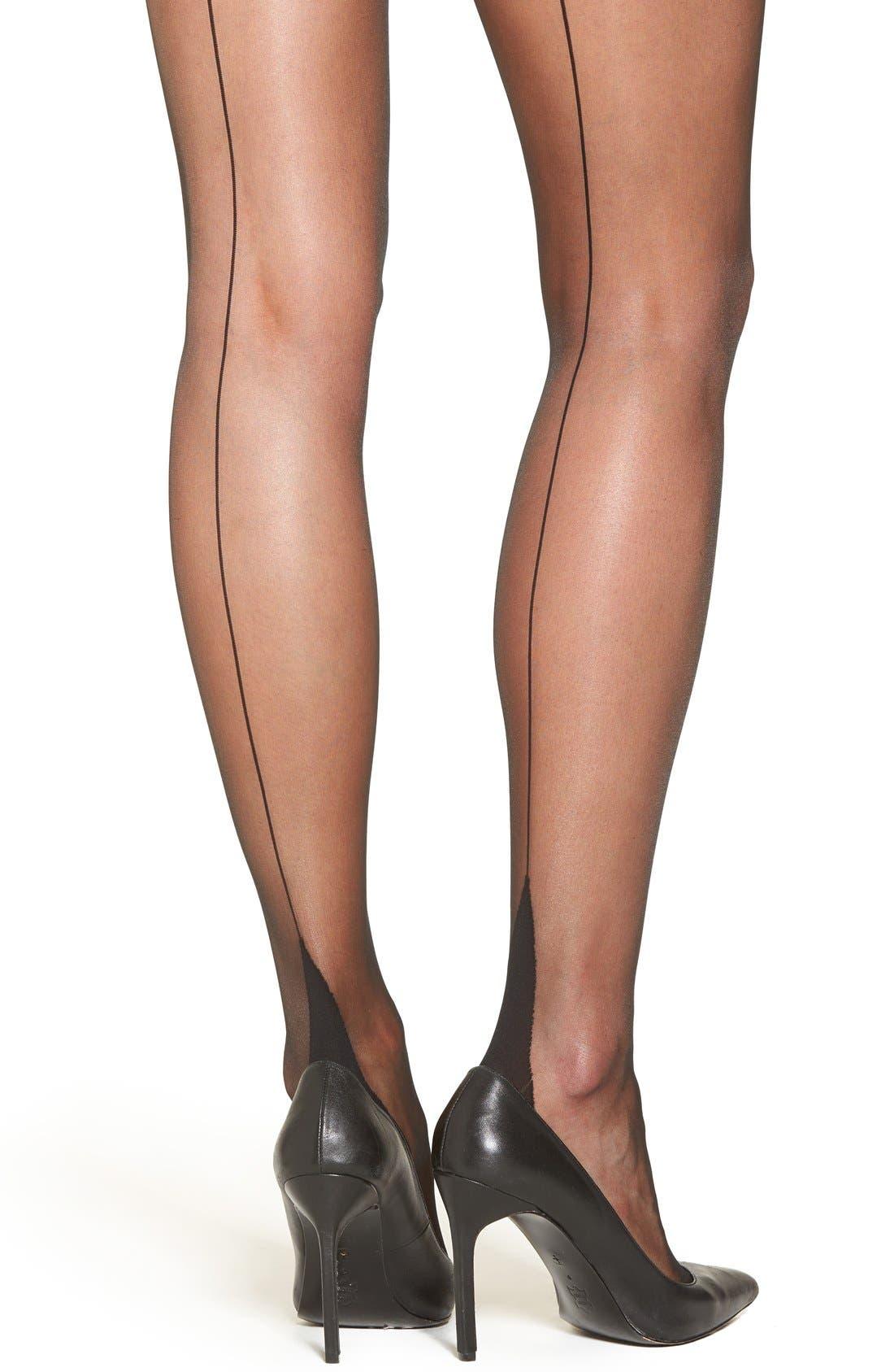 Alternate Image 2  - Falke 'High Heel' Back Seam Pantyhose