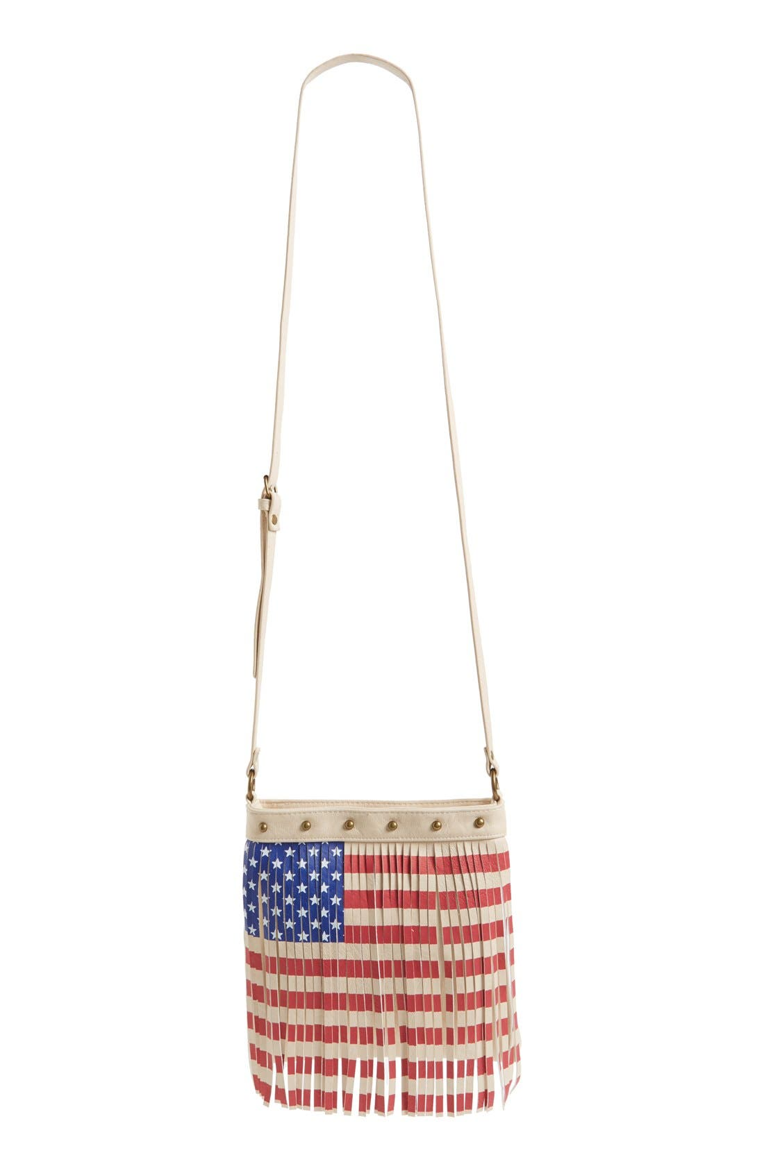 Alternate Image 2  - Lulu Faux Leather Flag Crossbody Bag