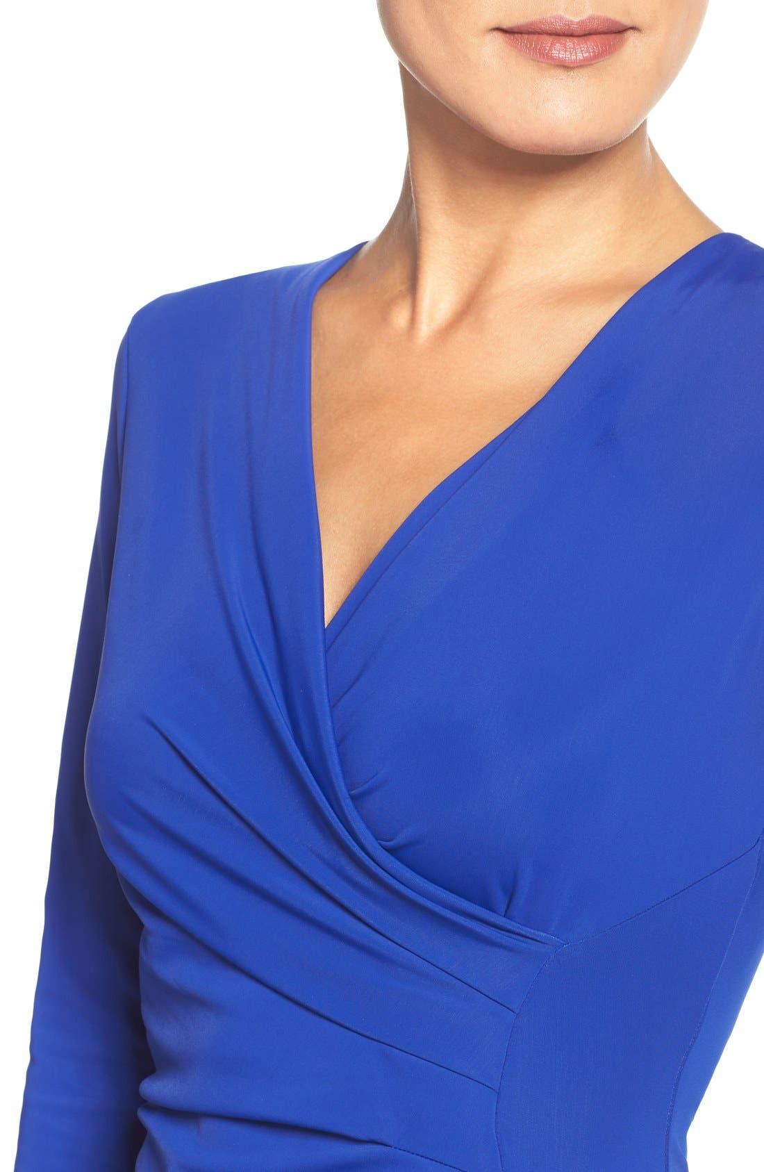 Alternate Image 5  - Adrianna Papell Stretch Faux Wrap Dress (Regular & Petite)