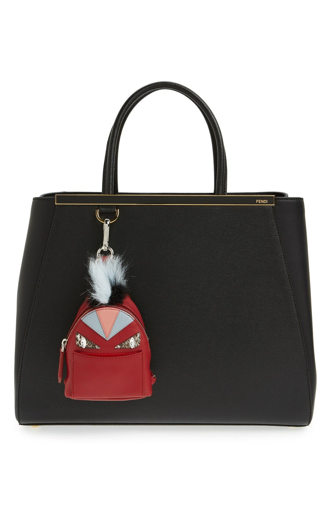 Alternate Image 3  - Fendi 'Monster' Genuine Fox Fur Trim Backpack Bag Charm