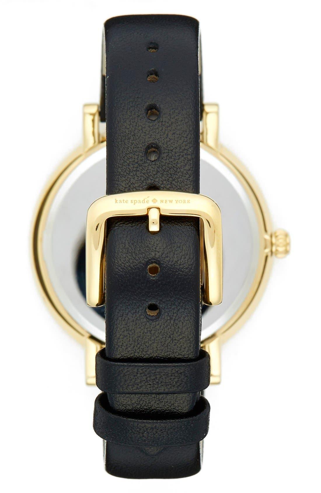 Alternate Image 2  - kate spade new york 'monterrey' leather strap watch, 38mm