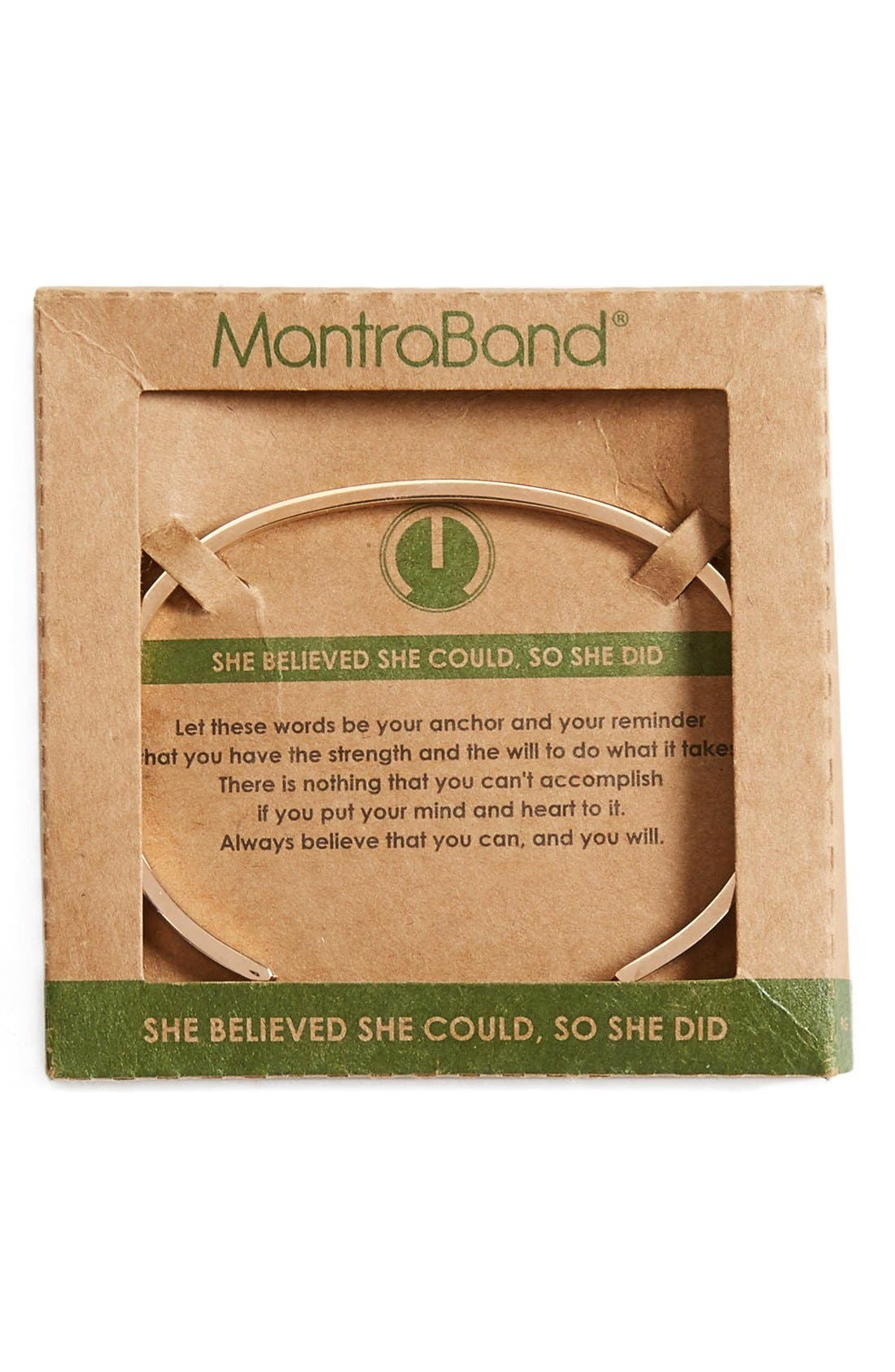Alternate Image 2  - MantraBand® 'She Believed She Could' Cuff