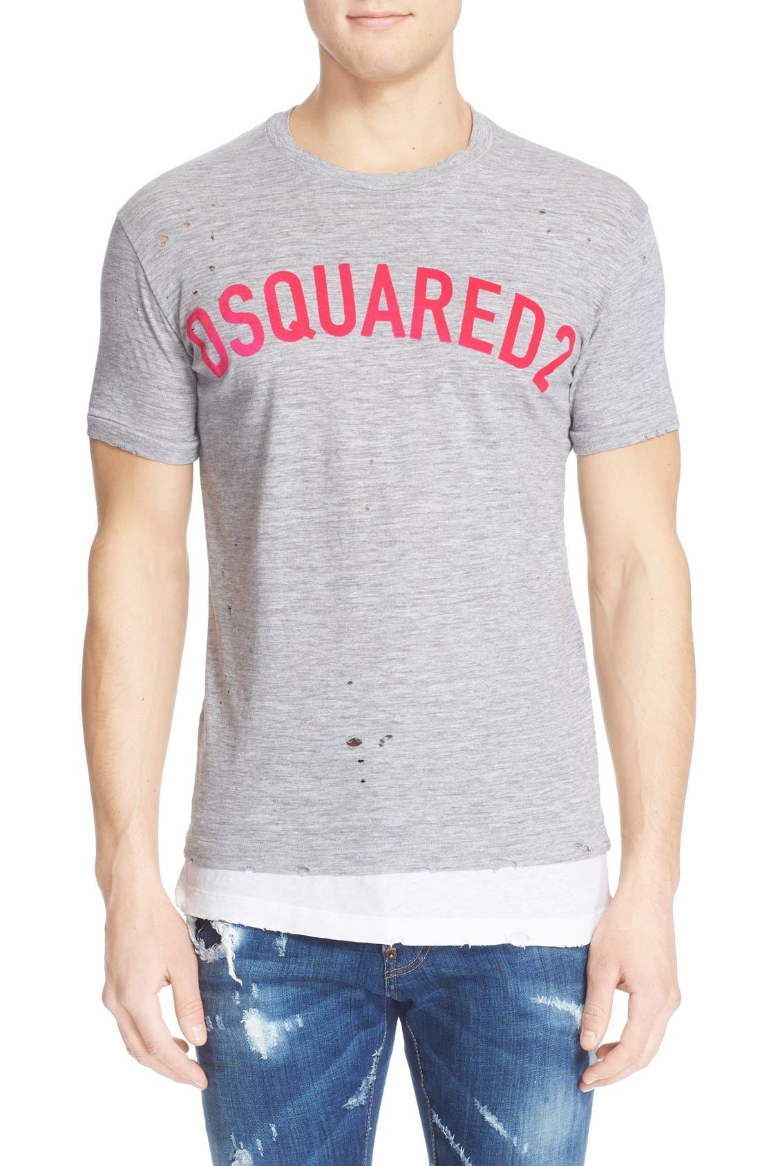 DSQUARED2 Double Hem Logo T-Shirt
