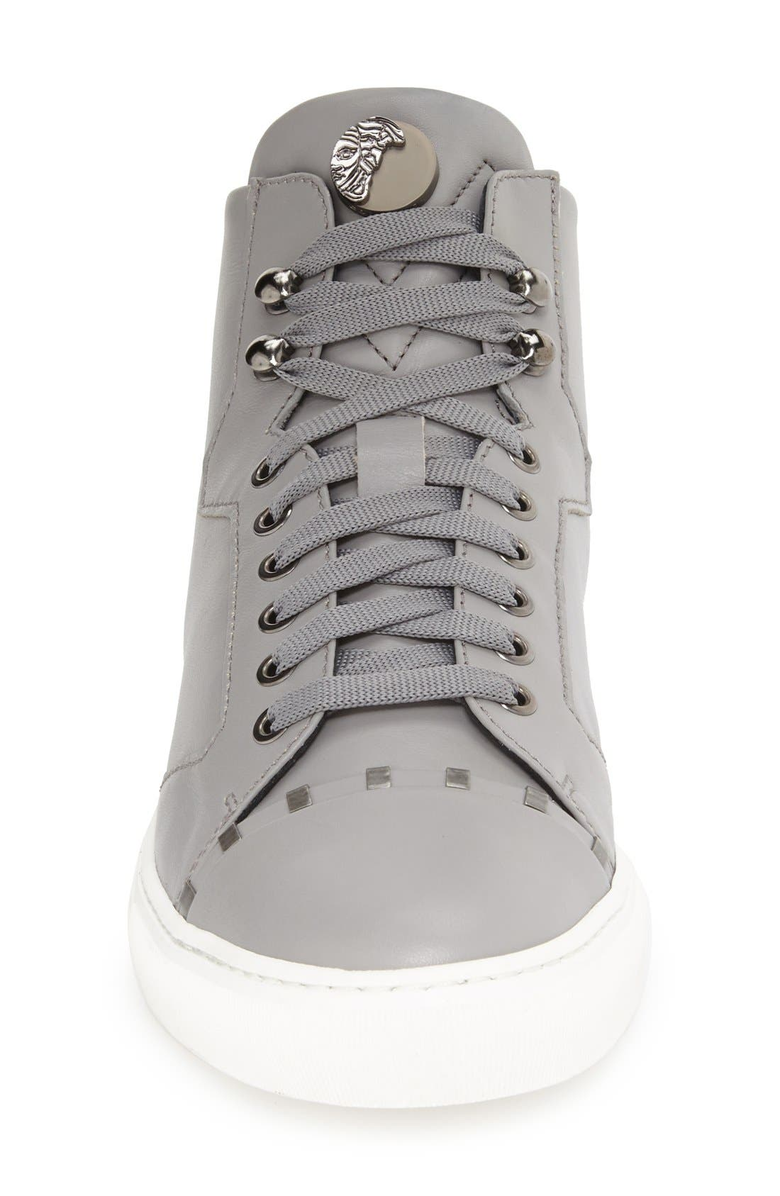 Alternate Image 4  - Versace Collection Leather High Top Sneaker (Men)