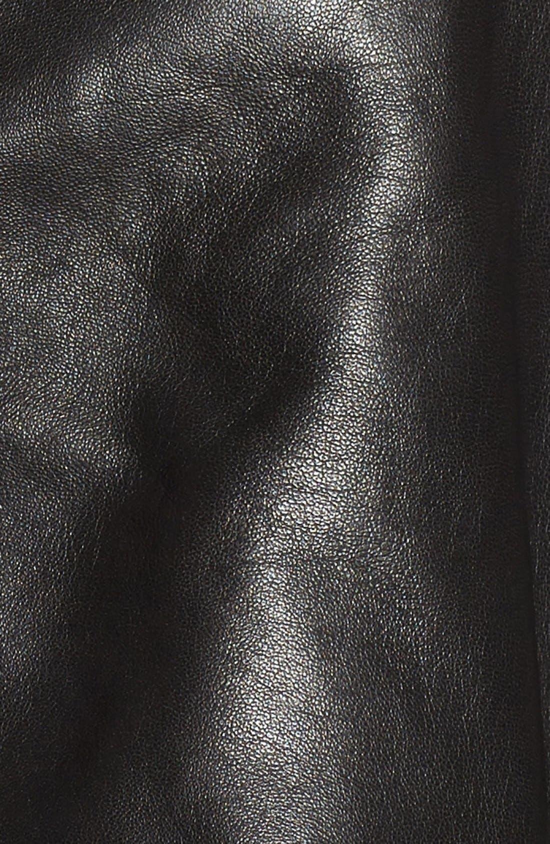 Alternate Image 5  - Badgley Mischka 'Irina' Leather Moto Jacket with Genuine Shearling Collar