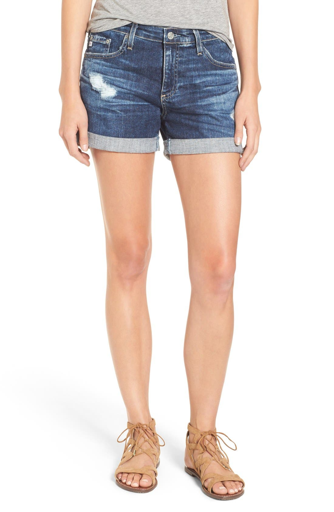 Alternate Image 1 Selected - AG 'Hailey' Denim Shorts (11 Years Sail Away)