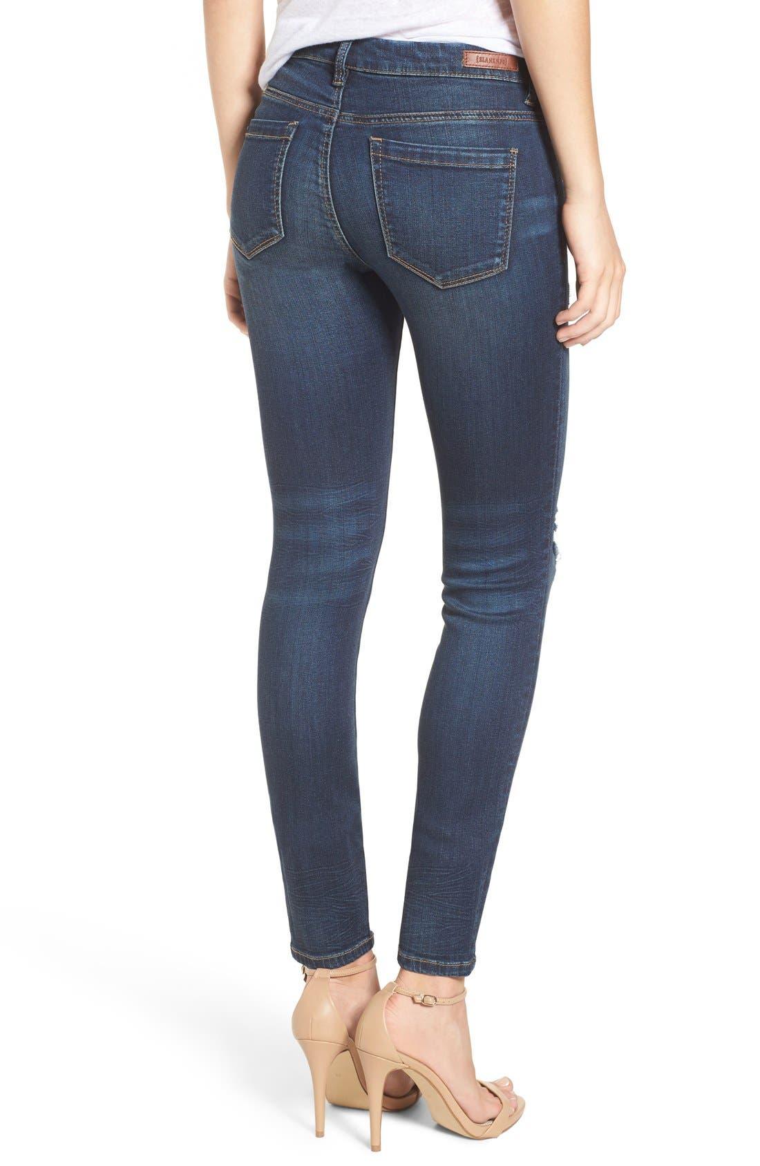 Alternate Image 3  - BLANKNYC Distressed Skinny Jeans (Junk Drawers)