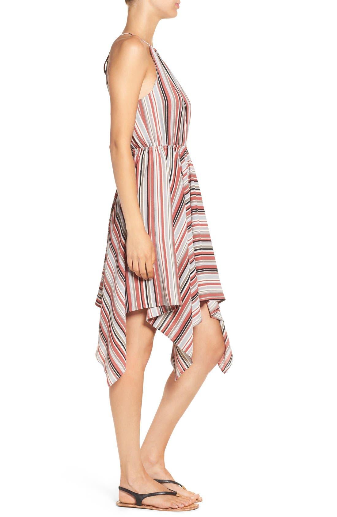 Alternate Image 3  - Soprano Stripe Handkerchief Hem Halter Dress