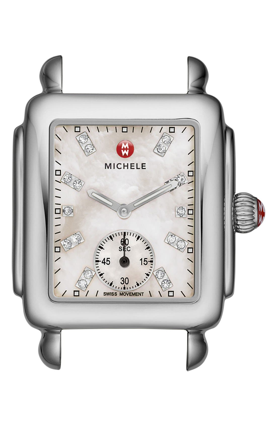 MICHELE Deco 16 Diamond Dial Watch Head, 29mm