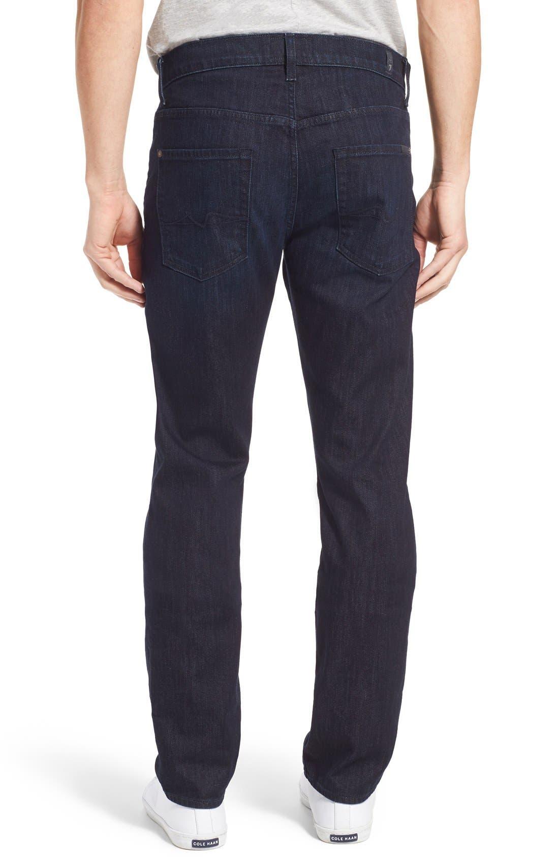 Alternate Image 2  - 7 For All Mankind® 'Straight - Luxe Performance' Slim Straight Leg Jeans (Rebellion)