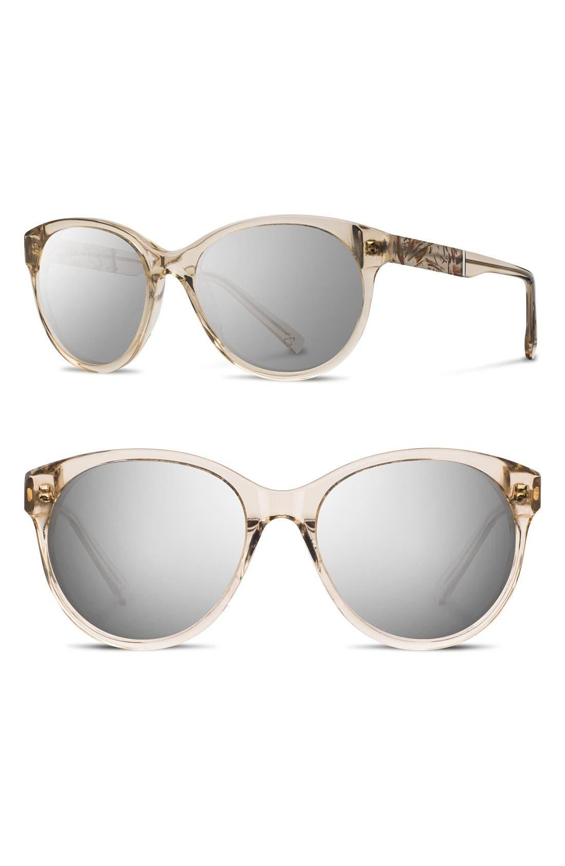 Main Image - Shwood 'Madison Flower' 54mm Polarized Round Sunglasses