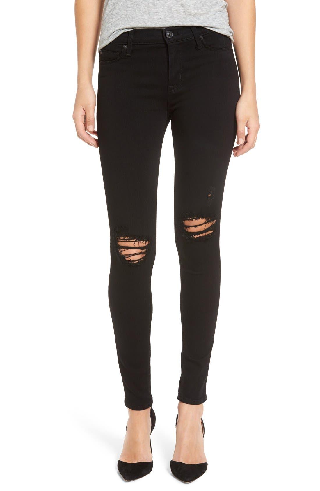 Alternate Image 1 Selected - Hudson Jeans 'Nico' Skinny Jeans (Ravage)