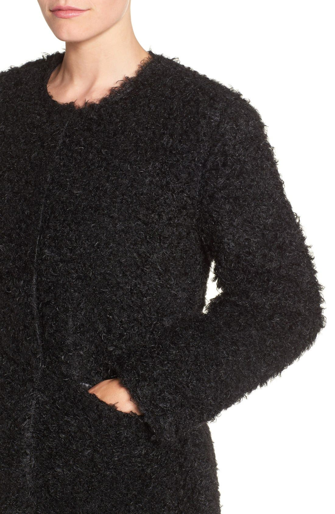 Alternate Image 4  - Via Spiga Reversible Faux Fur Coat