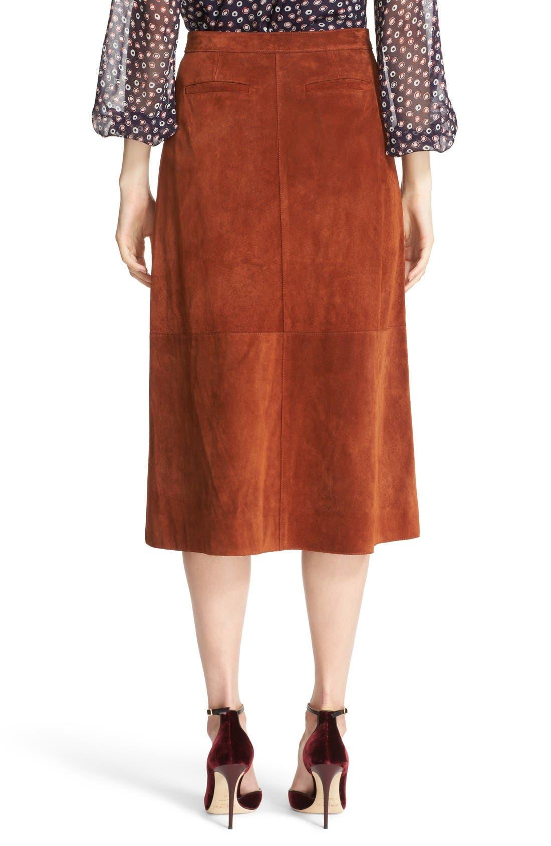 Alternate Image 3  - Diane von Furstenberg 'Gracelynn' Suede Midi Skirt