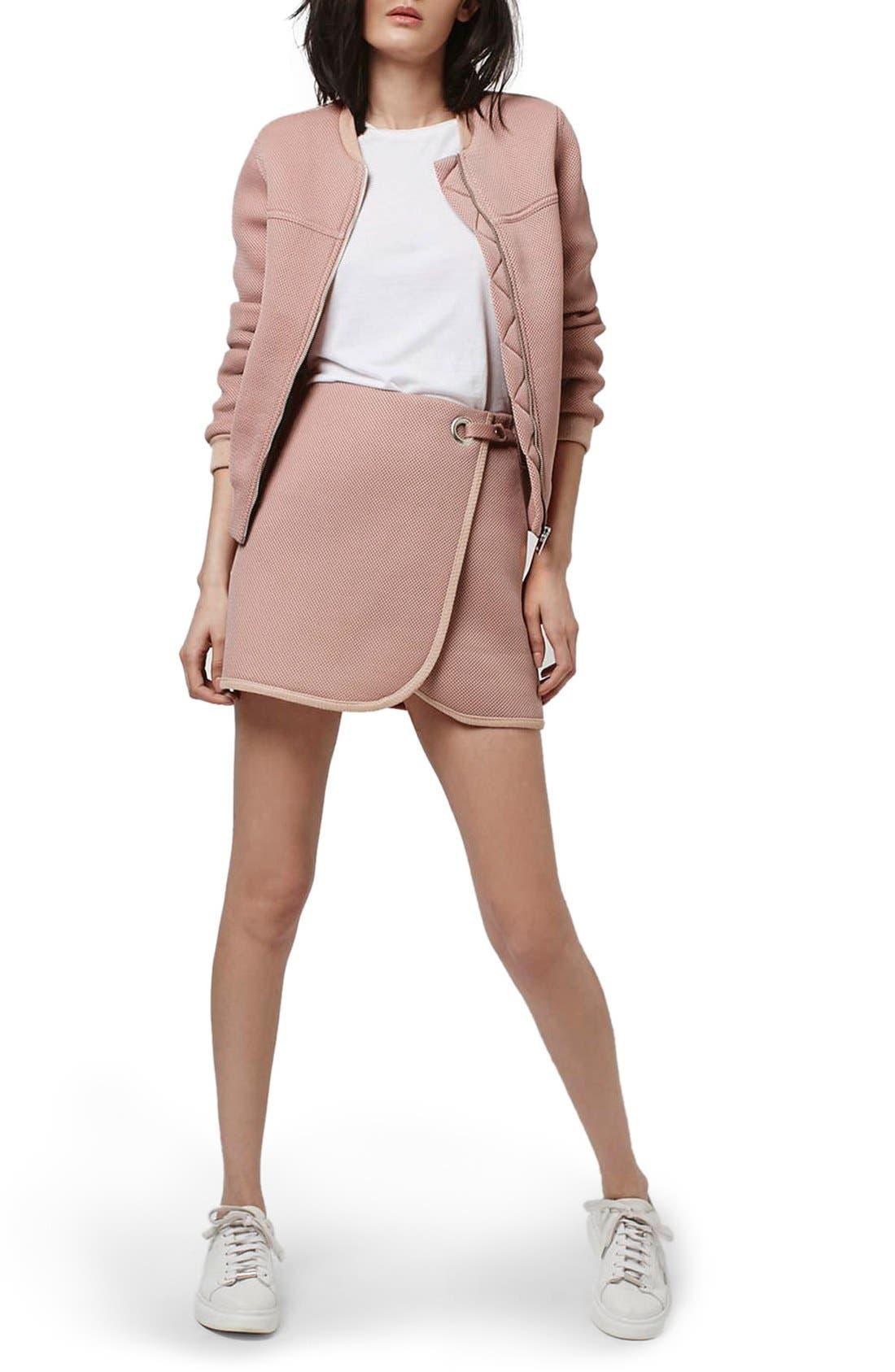 Alternate Image 2  - Topshop Airtex Wrap Miniskirt