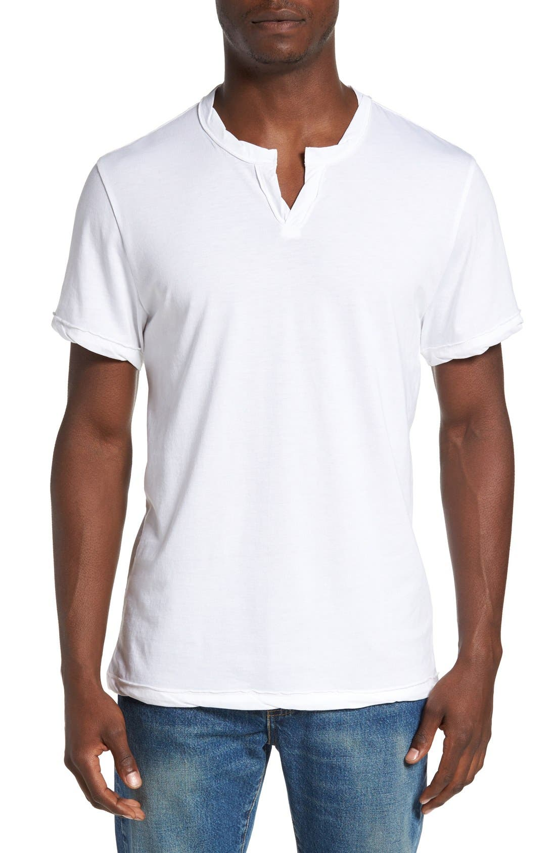Alternative Notched Neck Organic Cotton T-Shirt
