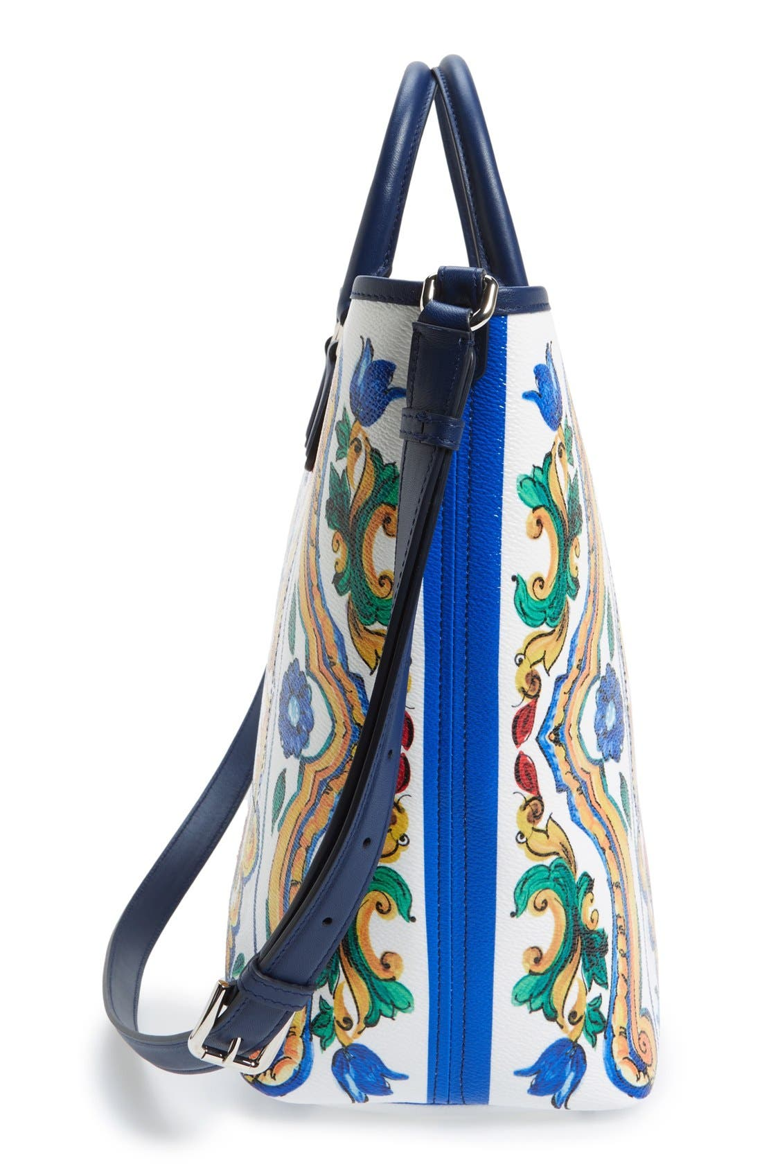 Alternate Image 4  - Dolce&Gabbana 'Lara' Mallorca Print Painted Shopper