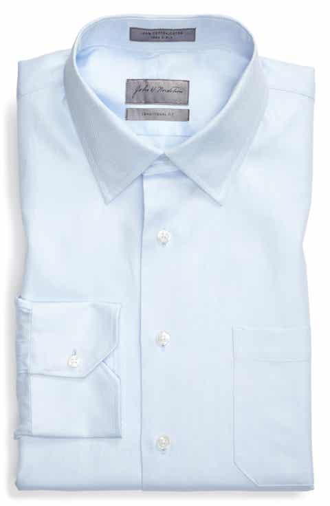 John W. Nordstrom® Traditional Fit Herringbone Dress Shirt