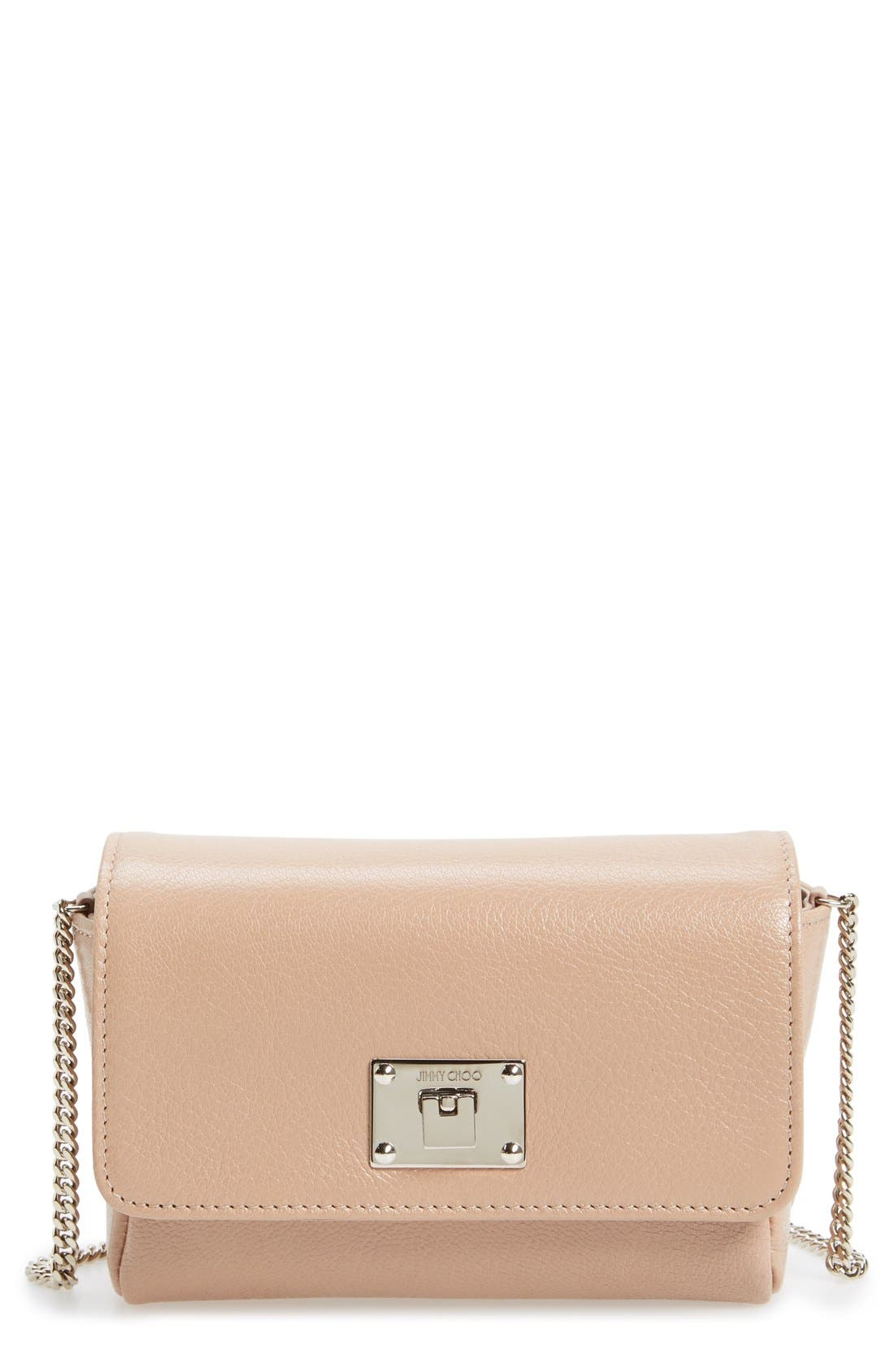 Jimmy Choo 'Ruby' Grainy Leather Clutch