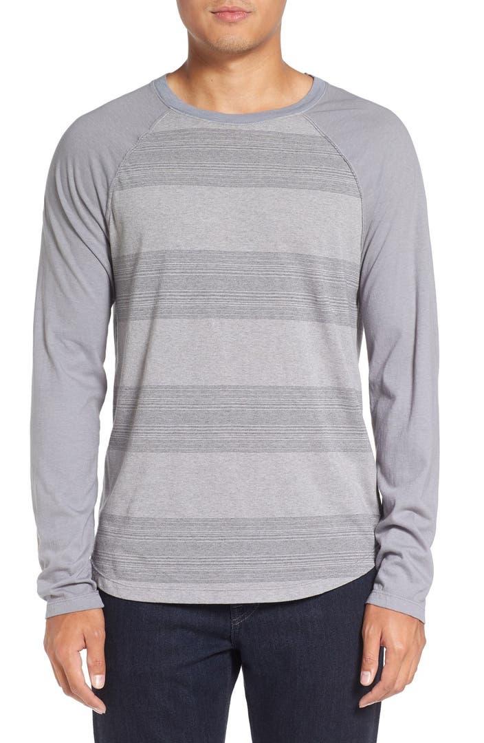 Michael stars variegated stripe long sleeve t shirt for Michael stars tee shirts